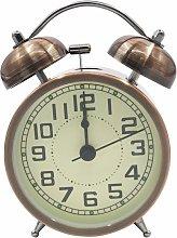 Retro Morning Alarm Clock Quiet Bedside Quartz