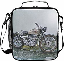 Retro Motorcycle Lunch Bag Insulated Lunch Box