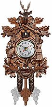 Retro Nordic Style Wooden Cuckoo Wall Mechanical