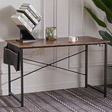 Retro PC Computer Desk Corner Wooden Desktop Table