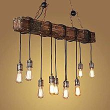 Retro Pendant Lamp E27 Wood Hanging Lamp