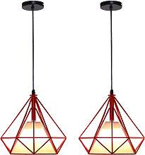 Retro Pendant Light 25cm Diamond Cage Ceiling