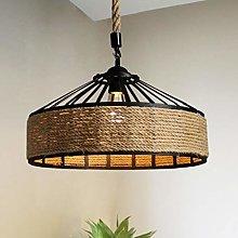 Retro Pendant Light Industrial Style Iron Art Hemp