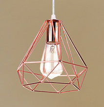 Retro Pendant Light Modern Ceiling Lamp Rose Gold