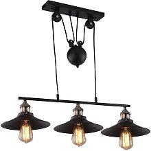 Retro Pulley Pendant Lamp Industrial Vintage