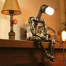 Retro Robot Lamp Industrial Desk Lamp Iron Floor