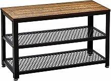 Retro Shoe Bench, Industrial Design Shoe Cabinet,