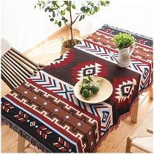 Retro Sofa Chair Cushion Tablecloth Aztec Navajo