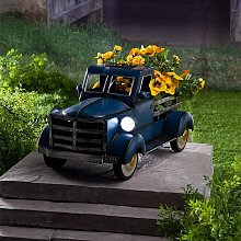 Retro Solar Pickup Truck Garden Decoration, Colors