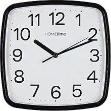Retro Square Black Silent Sweep Wall Clock
