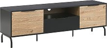 Retro TV Stand Cabinet Drawer Doors for