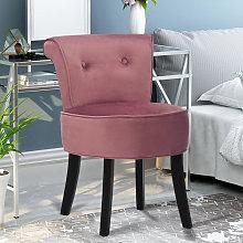 Retro Velvet Dressing Table Stool Footstool