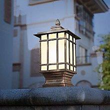 Retro Vintage Antique Waterproof Table Lamp Column