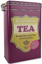 Retro Vintage Purple Tea Container Canister