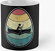Retro Vintage Rowing Egg Happy Easter Day Gift