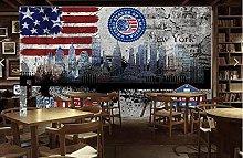 Retro Wallpaper New York City Mural for Living