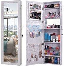 Retro Wood Whole Body Mirror Decoration Storage