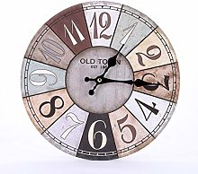 Retro Wooden Silent Wall Clocks Holzstreifenheft