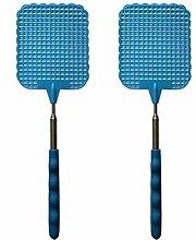 RetroFun Fly Swatter,2Pieces Manual Extendable