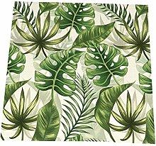 RETRUA Tropical Leaves Green Cloth Dinner Napkins