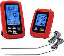 RETYLY Dual Probe Remote Meat Thermometer for