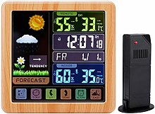 RETYLY Wood Weather Station, Indoor Outdoor