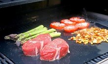 Reusable Barbecue Grill Mat: Four