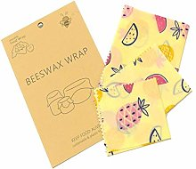 Reusable Beeswax Wrap Assorted Size 3pcs, Eco Food