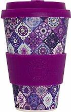 Reusable Coffee Cup (Purple Mosaic) - Eco Friendly
