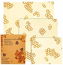 Reusable Food Storage Cloth, Assorted 3 Beeswax