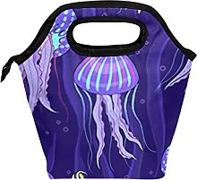 Reusable Lunch Bag and Cooler Tote Sea Jellyfish