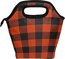 Reusable Lunch Bag and Cooler Tote Seamless Orange