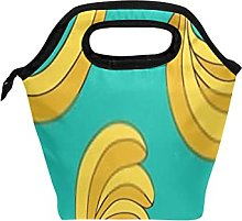Reusable Lunch Bag and Cooler Tote Seamless Vector