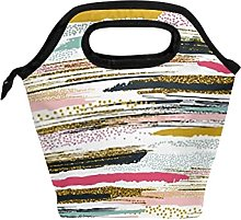 Reusable Lunch Bag and Cooler Tote Vector Seamless