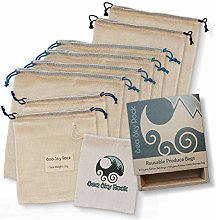 Reusable Produce Vegetable Bags - Set of 9 -