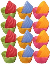 Reusable Silicone Cupcake Baking Cups,24Pcs Muffin