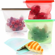 Reusable Silicone Food Storage Bags,Ideal for