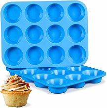 Reusable Silicone Muffin Baking Pan Cupcake Tray