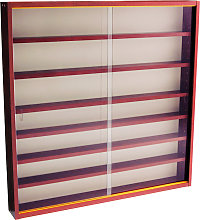 REVEAL - 6 Shelf Glass Wall Collectors Display