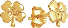 Revere 9ct Gold Plated Four Leaf Clover Stud