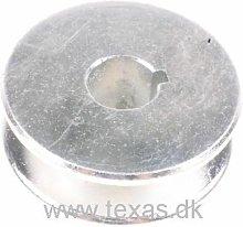 Reverse belt pulley for Texas tillers