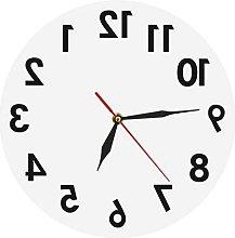 Reverse Wall Clock Unusual Numbers Backwards