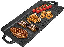 Reversible Cast Iron Griddle Plate Thickened BBQ