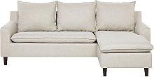 Reversible Fabric Corner Sofa Beige ELVENES