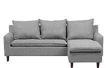 Reversible Fabric Corner Sofa Light Grey ELVENES