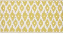 Reversible Polypropylene Outdoor Rug with Yellow
