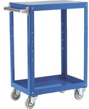 Reversible Tray And Shelf Trolley With 2 Shelves