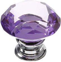 Revesun 10pcs 40mm-Purple Diamond Crystal Cupboard