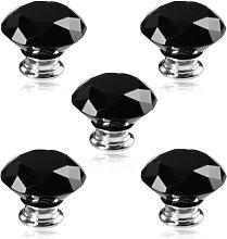 Revesun 10PCS/LOT Diameter 30mm Black Crystal