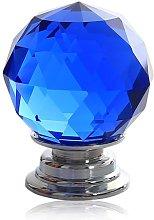 Revesun 10PCS/LOT Diameter 30mm Blue Crystal Glass